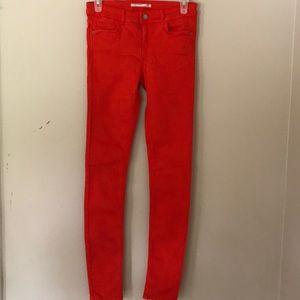Zara Trafaluc orange jeans size 4